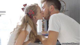 Blonde Russian student teen fucks her boyfriend xxx