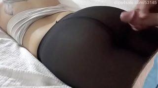 GoFuck69.com – Cumshot on Nice Pantyhose Ass –
