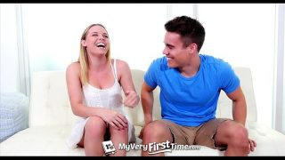 Real !!! Horny Aubrey Sinclair fucks her step-brother for the first time